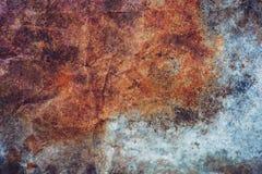 Oud grungezink en roestige textuur als achtergrond met exemplaarruimte stock foto's