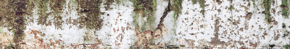Oud grungy concreet van de muurtextuur fragment als achtergrond Stock Fotografie