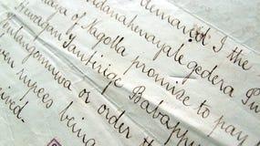 Oud handschrift stock foto