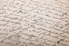 Oud handschrift, wijnoogst leter royalty-vrije stock afbeeldingen