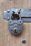 Oud hangslot Stock Fotografie