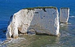 Oud Harry Rocks in Dorset Stock Afbeelding