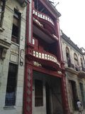 Oud Havana - Cuba - koloniale de bouwrestauratie Royalty-vrije Stock Foto