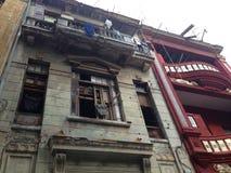 Oud Havana - Cuba - koloniale de bouwverhoging Stock Afbeeldingen