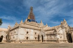 Oud (Heidens) Ananda Pagoda Bagan, Mandalay, Myanmar (Birma royalty-vrije stock afbeeldingen