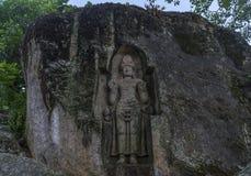 Oud heilig boeddhistisch beeldhouwwerk Kushta Raja Gala stock foto's
