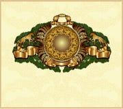 Oud heraldisch goud als achtergrond Stock Afbeelding