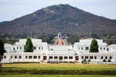 Oud het Parlement Huis, landschap van Canberra, Australië Royalty-vrije Stock Fotografie