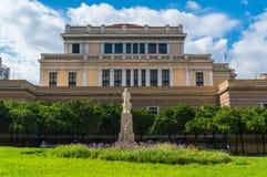 Oud het parlementshuis in Athene Griekenland Het Oude het Parlement Huis bij Stadiou-Straat in Athene, huisvestte het Griekse Par Stock Afbeeldingen