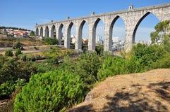 Oud het waterkanaal van Lissabon Royalty-vrije Stock Fotografie