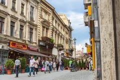 Oud historisch centrum Lipscani Royalty-vrije Stock Foto's