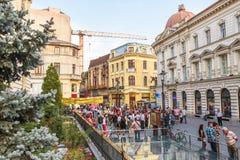 Oud historisch centrum Lipscani Stock Foto