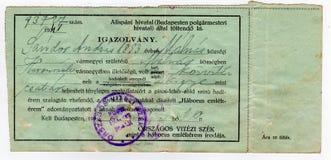 Oud historisch certificaat Stock Foto