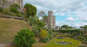 Oud historisch Engels kasteel Windsor Stock Fotografie