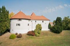 Oud historisch kasteel in Varazdin royalty-vrije stock afbeeldingen
