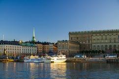 Oud historisch stadskwart Gamla Stan, Stockholm, Zweden stock afbeeldingen