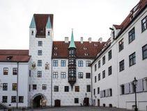 Oud Hof in München, Duitsland Vroegere woonplaats van Louis IV stock fotografie
