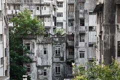 Oud Hong Kong Buildings Royalty-vrije Stock Fotografie