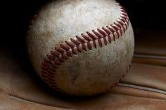 Oud honkbal stock afbeelding