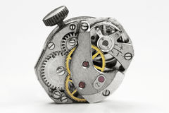 Oud horlogemechanisme Stock Afbeelding