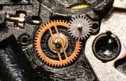 Oud horlogemechanisme, macro Royalty-vrije Stock Afbeelding