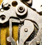 Oud horlogemechanisme, macro Royalty-vrije Stock Foto