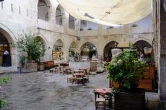 Oud hotel in Safranbolu stock afbeelding