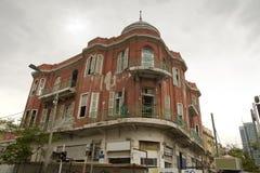 Oud Hotel in Tel Aviv Stock Afbeelding