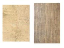 Oud hout en document Stock Afbeelding