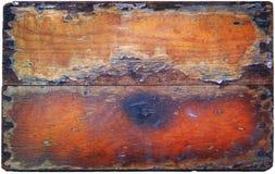 Oud hout met schade op textuur Stock Foto's