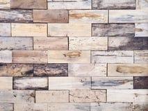 Oud hout voor binnenland en achtergrond Voor verfraai Royalty-vrije Stock Foto's