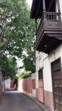 Oud houten balkon stock foto