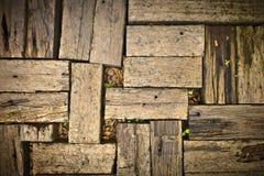Oud Houten Benedenverdiepings Achtergrondtextuurpatroon Stock Foto