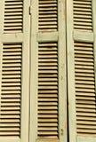 Oud houten blindendetail Royalty-vrije Stock Afbeeldingen