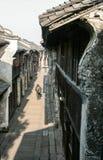 Oud houten Chinees dorp stock fotografie