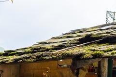Oud houten dak Stock Foto