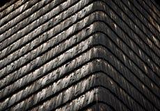 Oud houten dakspaandak Stock Foto