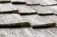 Oud houten dakspaanpatroon Stock Fotografie