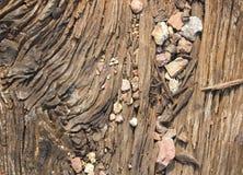Oud houten detail Royalty-vrije Stock Afbeeldingen