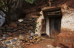 Oud houten deur en venster Royalty-vrije Stock Foto's