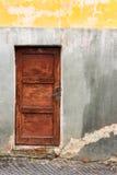Oud houten deurkader Stock Foto