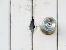 Oud houten deurslot Stock Fotografie