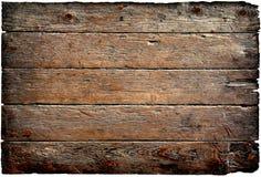 Oud houten die paneel op een witte achtergrond wordt geïsoleerd Stock Afbeeldingen