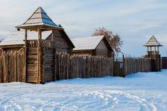 Oud houten fort royalty-vrije stock afbeeldingen