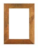 Oud houten fotoframe royalty-vrije stock fotografie