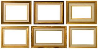 Oud houten frame. stock afbeelding