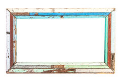 Oud houten frame Royalty-vrije Stock Afbeeldingen