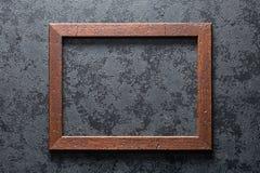Oud houten frame stock foto