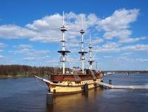 Oud houten fregat royalty-vrije stock foto