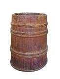 Oud houten geïsoleerd hoepel houten vat Stock Foto's